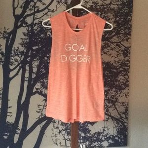 Work out shirt, coral color, size S